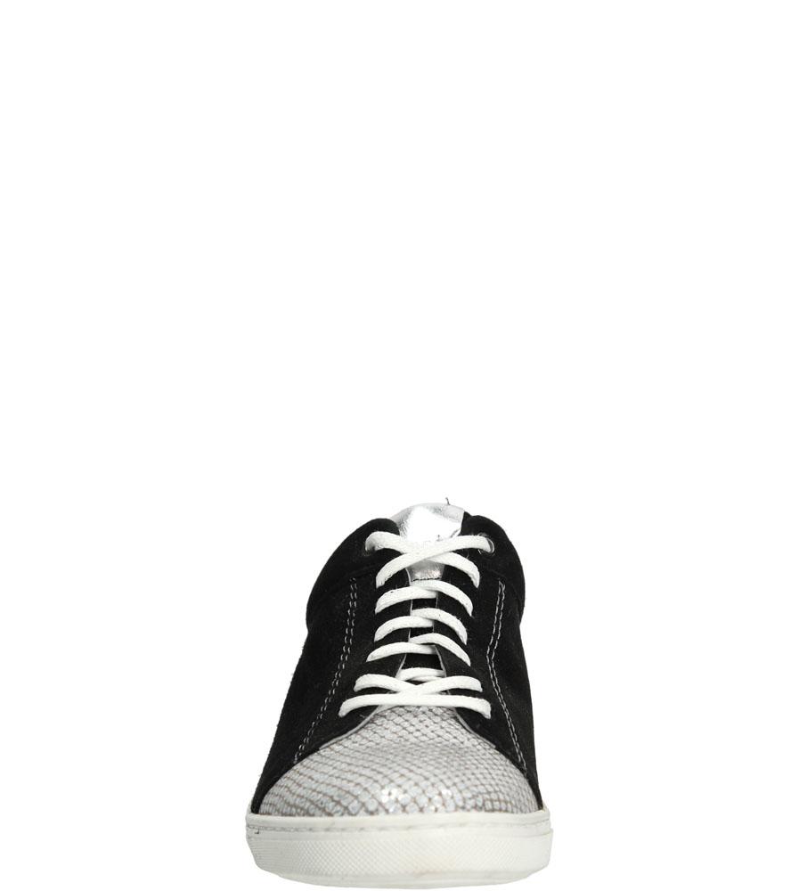 Damskie TRAMPKI NESSI 77406 czarny;srebrny;