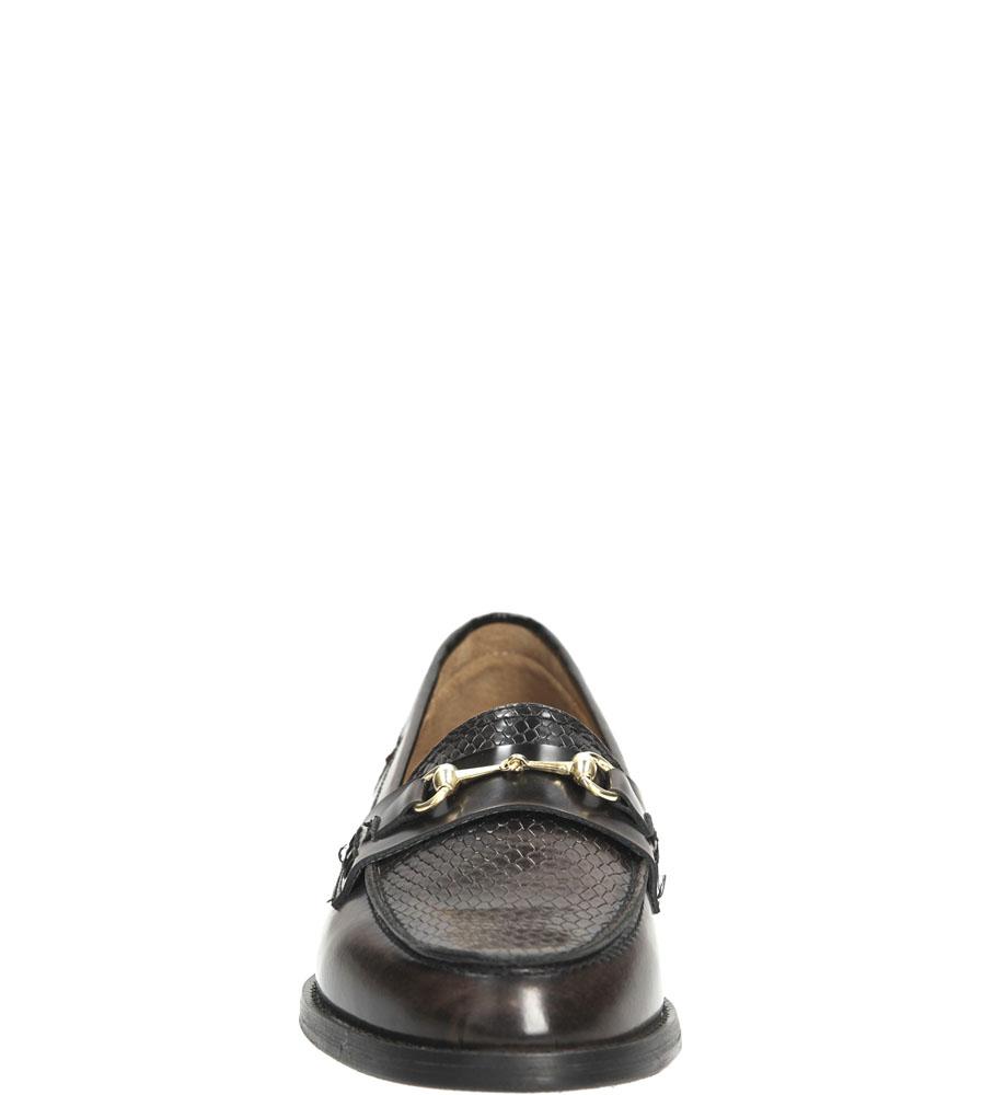 Damskie MOKASYNY NESSI 75606 brązowy;czarny;
