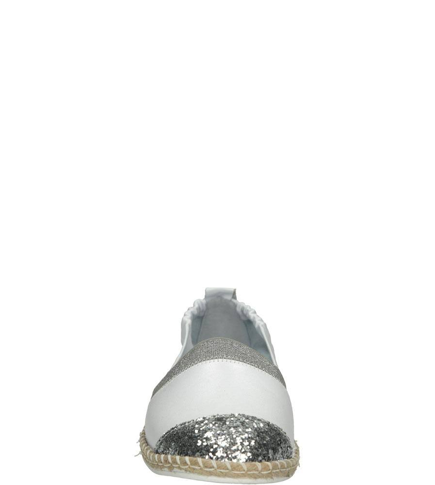 Damskie ESPADRYLE CASU 1977 biały;srebrny;
