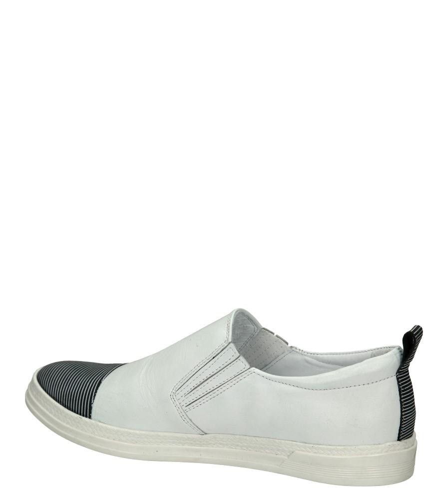 Damskie SLIP ON CASU 1987 biały;czarny;