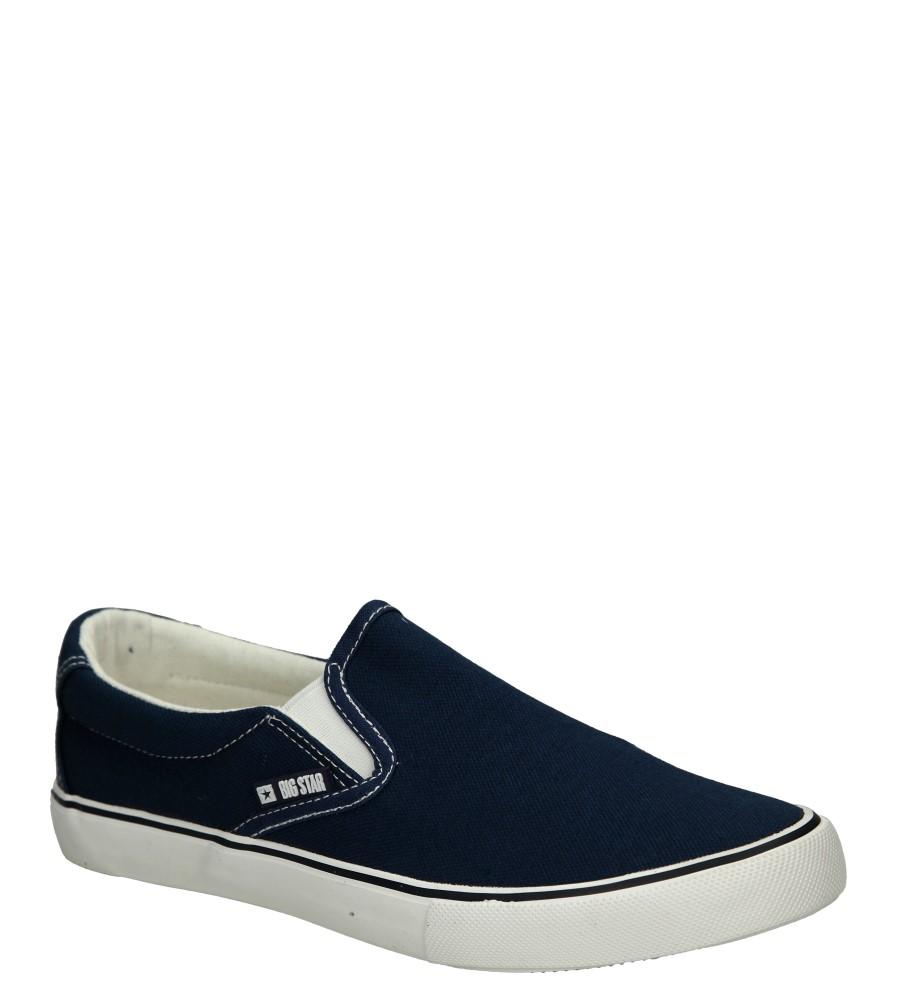 Damskie SLIP ON BIG STAR U27486 niebieski;;