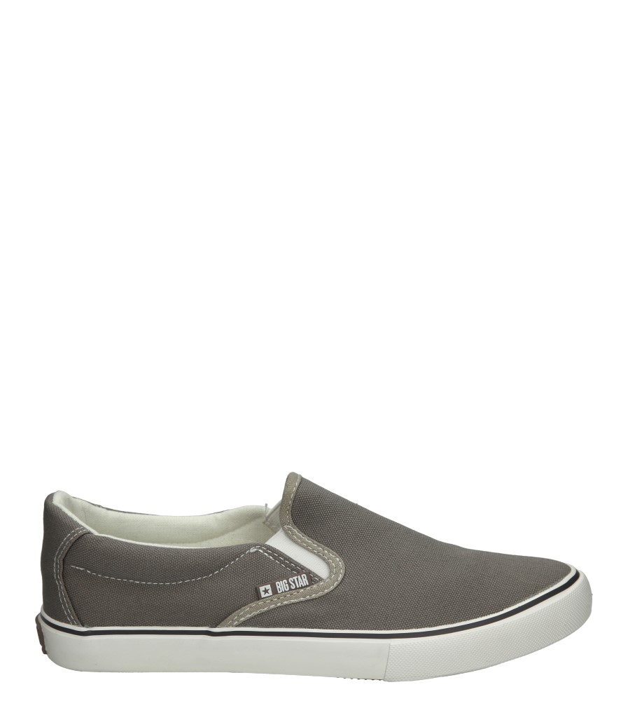 Damskie SLIP ON BIG STAR U27486 szary;;
