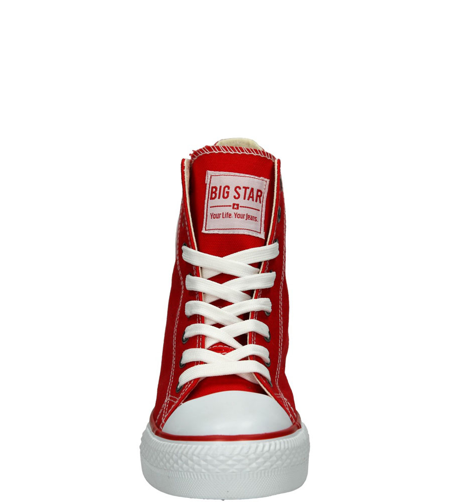 Damskie TRAMPKI BIG STAR U27490 czerwony;;