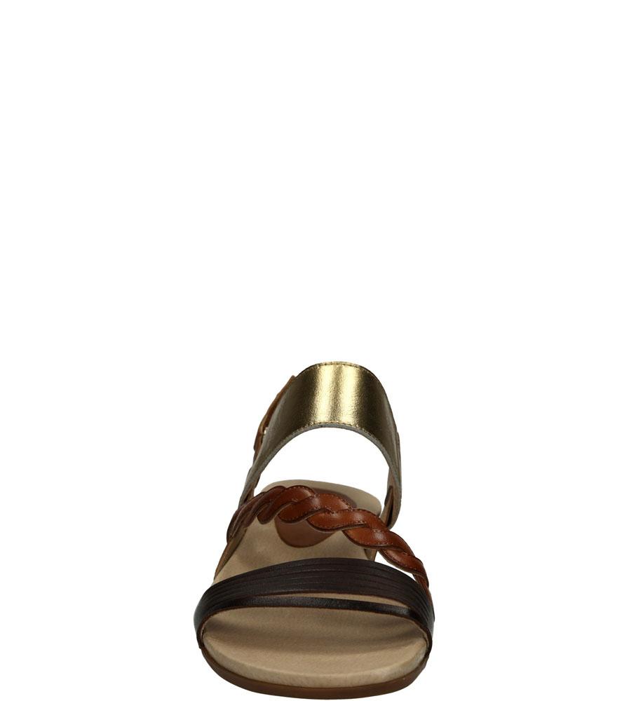 SANDAŁY PIKOLINOS ALCUDIA 816-0661C1 kolor brązowy, ciemny brązowy, złoty