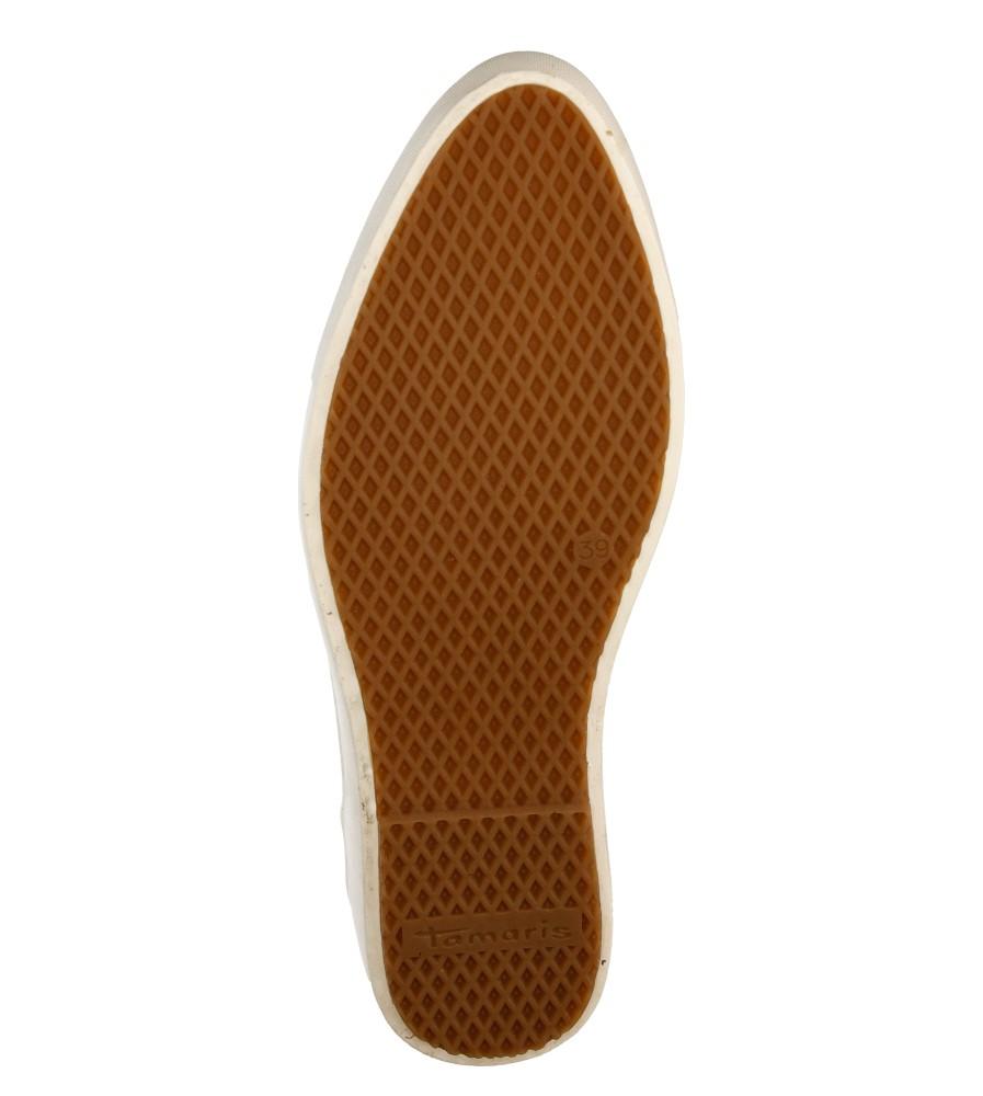 Damskie SLIP ON TAMARIS 1-24609-26 beżowy;;