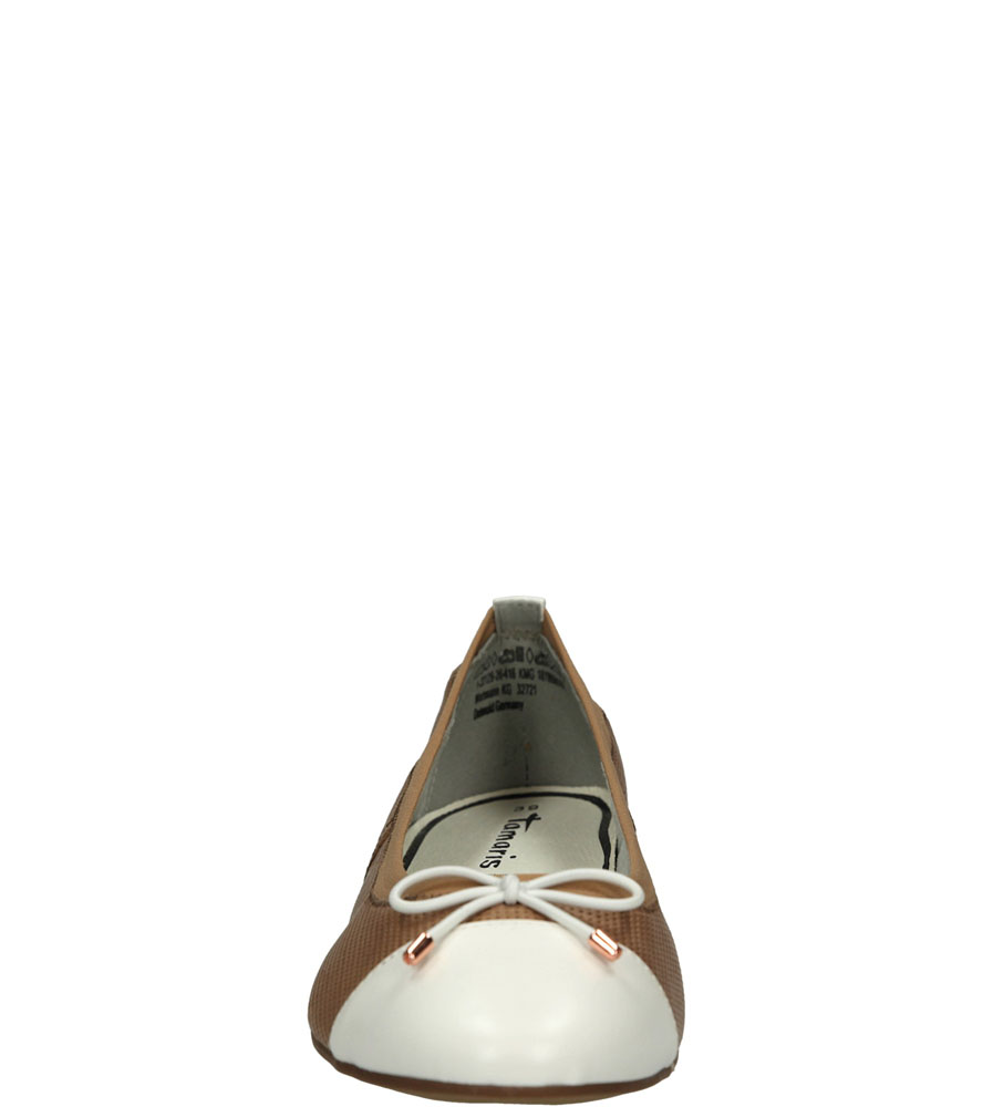 BALERINY TAMARIS 1-22129-26 kolor biały, jasny brązowy