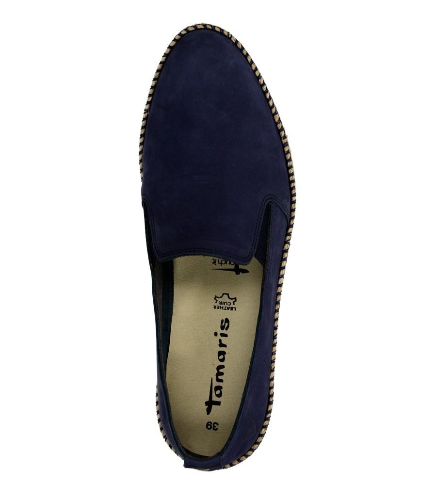 Damskie SLIP ON TAMARIS 1-24628-26 niebieski;;