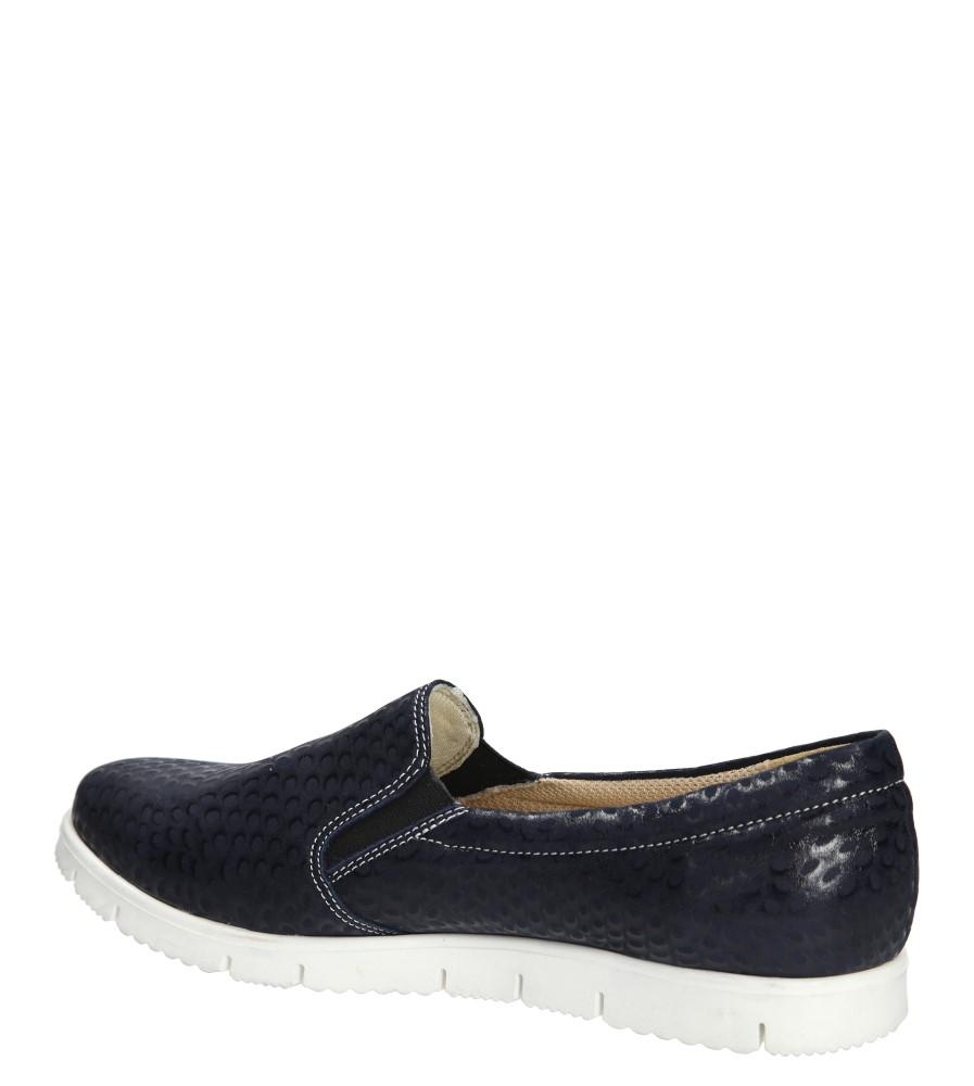 Damskie SLIP ON CASU 3151 niebieski;;