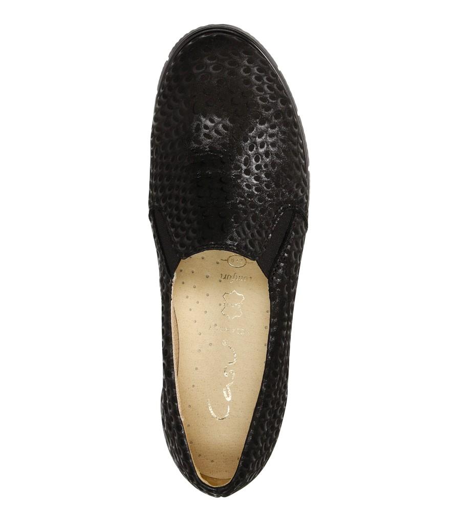 Damskie SLIP ON CASU 3151 czarny;;