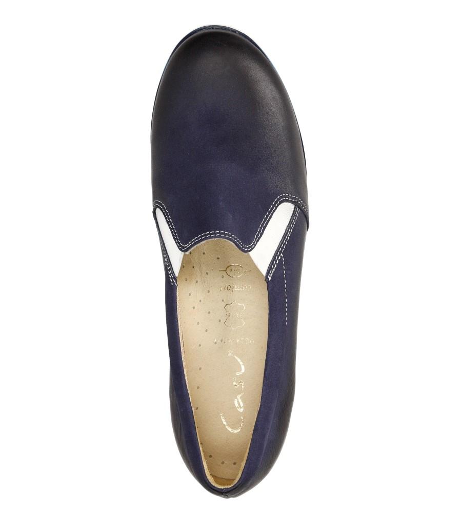 Damskie SLIP ON CASU 3153 niebieski;;