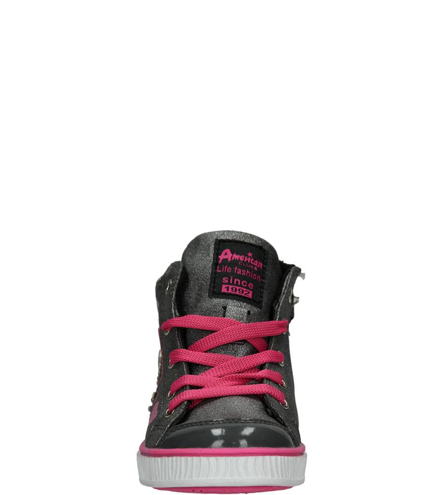 Dziecięce TRAMPKI AMERICAN K13153 szary;różowy;