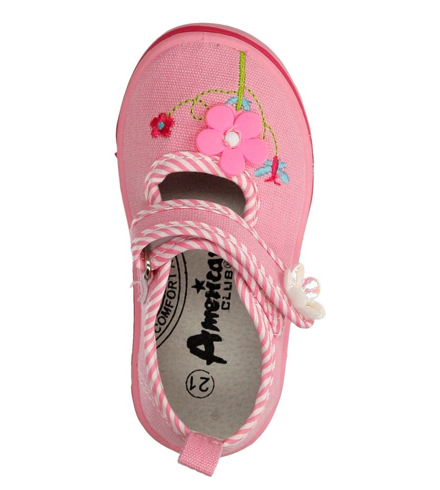 Dziecięce TRAMPKI AMERICAN TEN204/2016 różowy;;