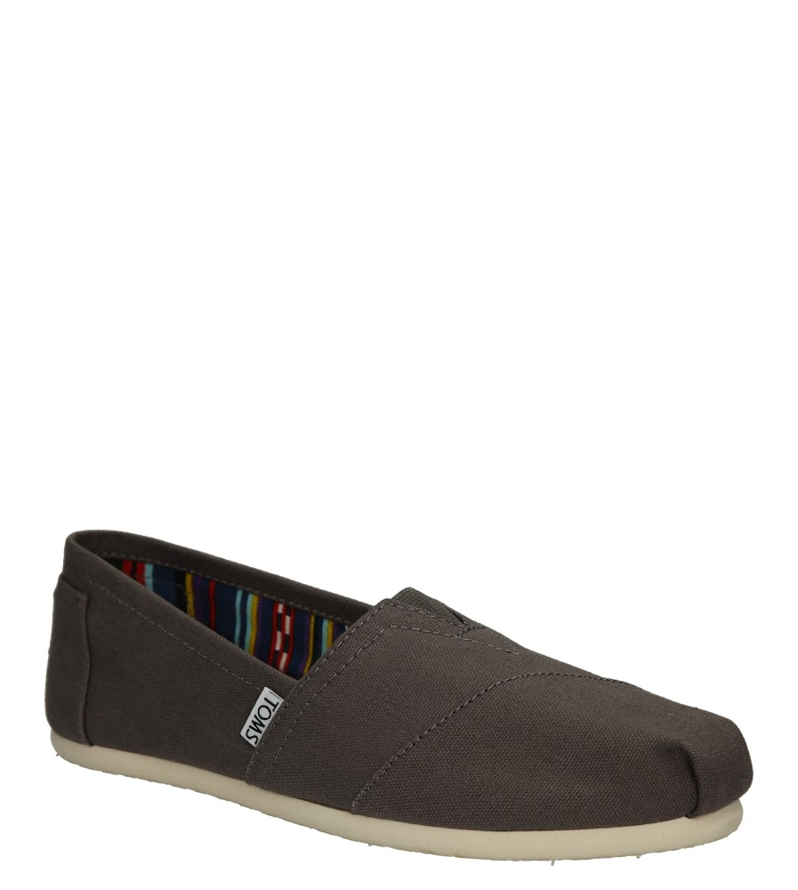 Damskie TOMSY TOMS CLASSIC ASH CANVAS 10000871 szary;;
