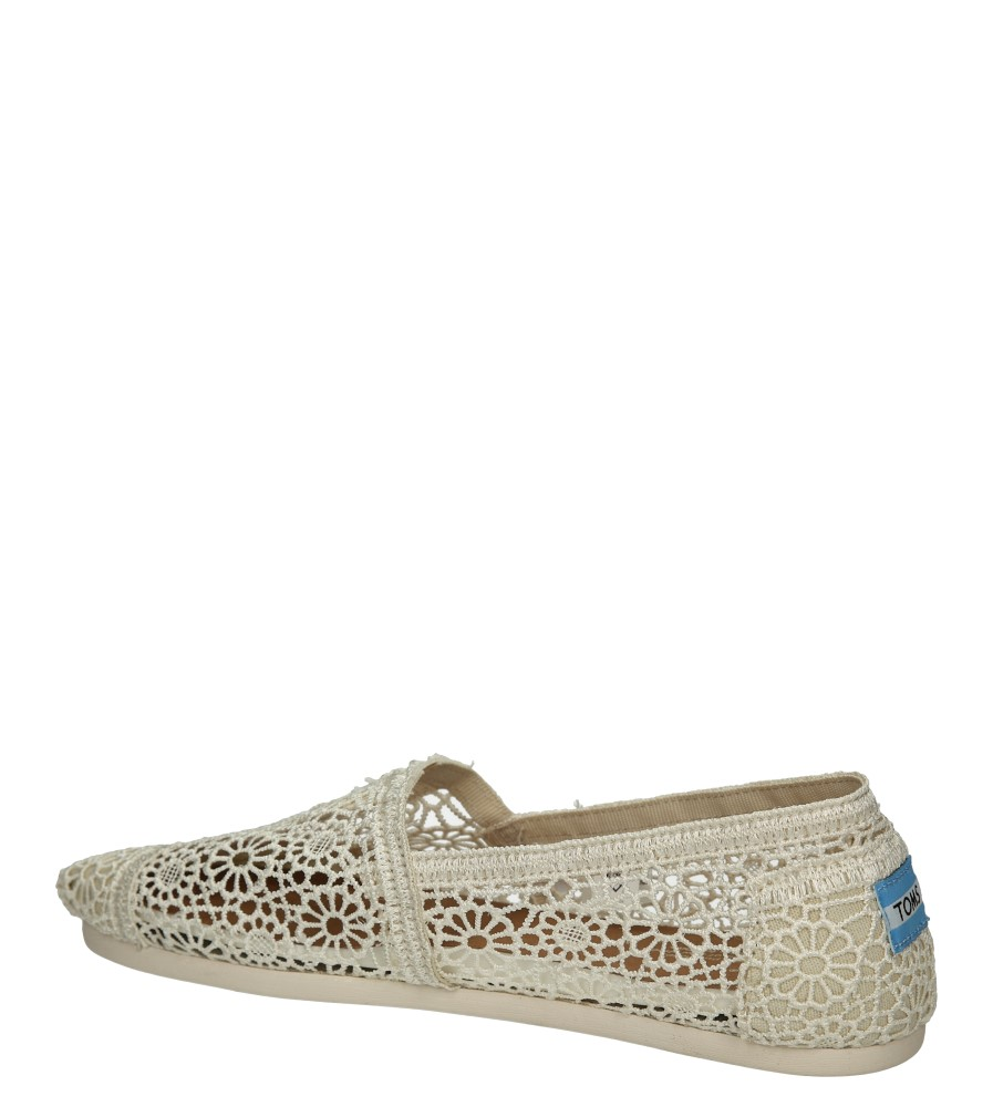 TOMSY TOMS CLASSIC NATURAL 10007858 kolor jasny beżowy