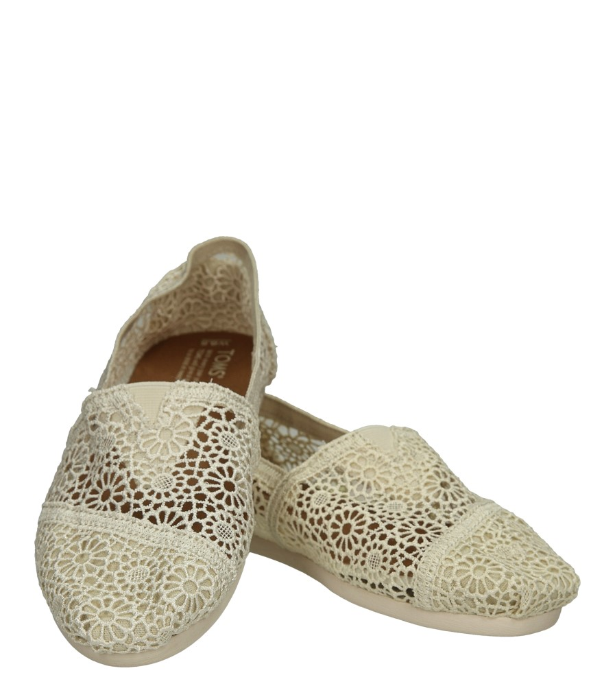 TOMSY TOMS CLASSIC NATURAL 10007858 wierzch materiał