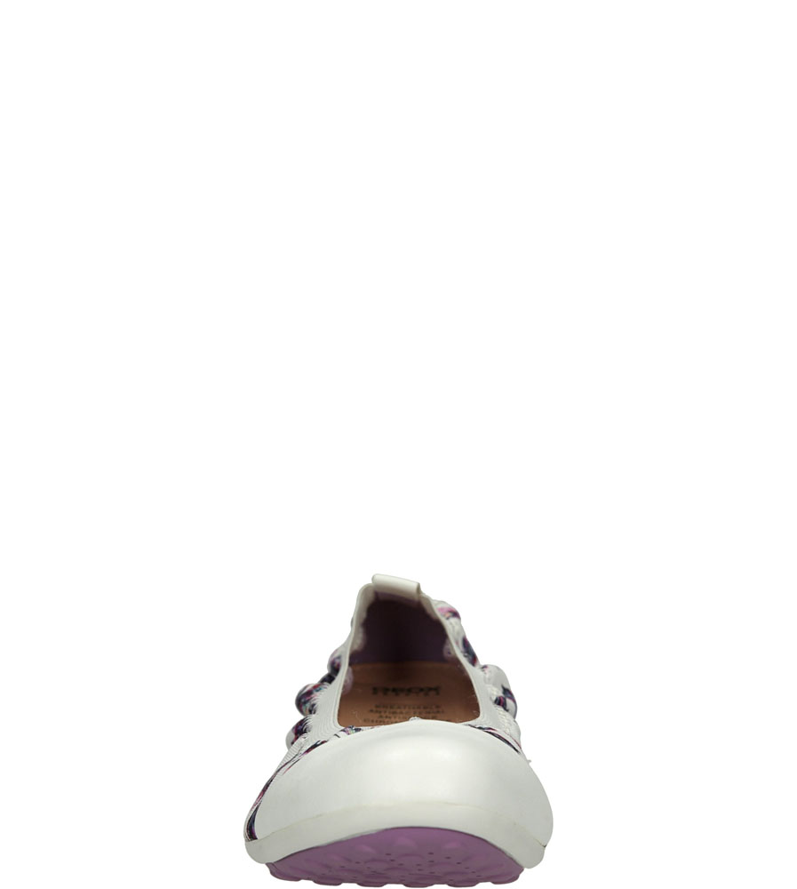 Damskie BALERINY GEOX J62BOB OAN54 biały;;
