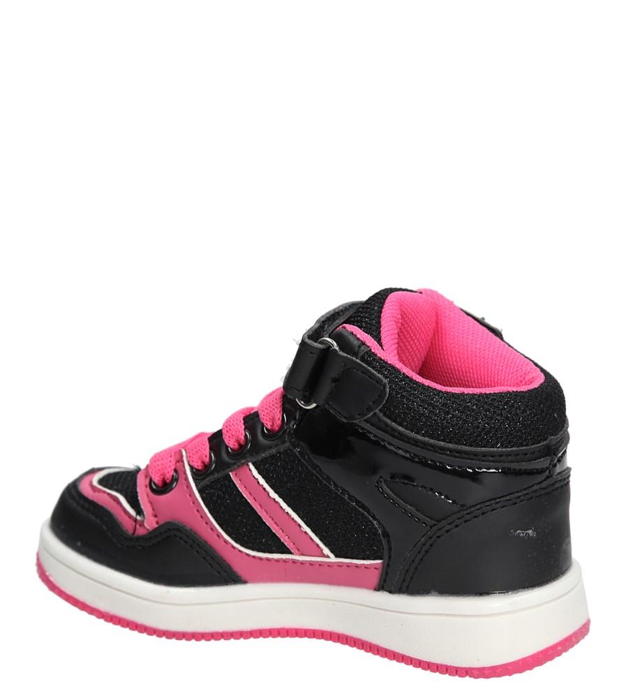 Dziecięce SPORTOWE 70406A czarny;różowy;