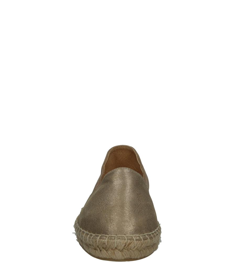 Damskie ESPADRYLE TAMARIS 1-24649-36 beżowy;złoty;