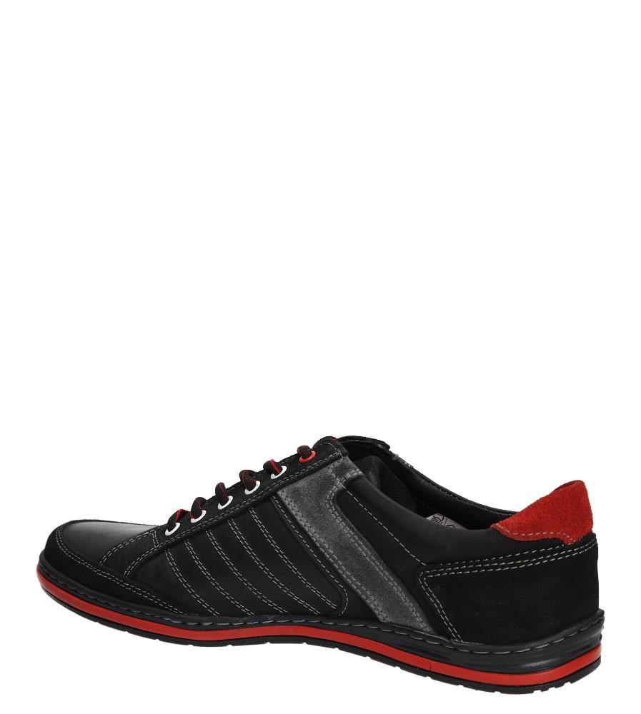 Męskie PÓŁBUTY WINDSSOR 236 czarny;czerwony;