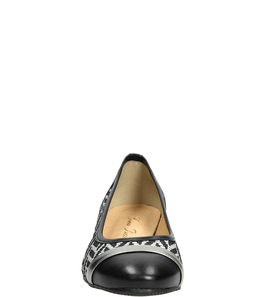 BALERINY GINA PUCCI 796B kolor czarny, srebrny