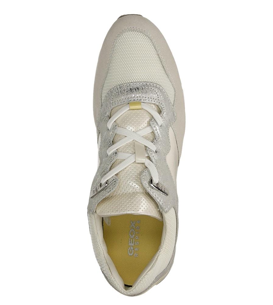 Damskie SPORTOWE GEOX D44N1A 0VI11 szary;biały;