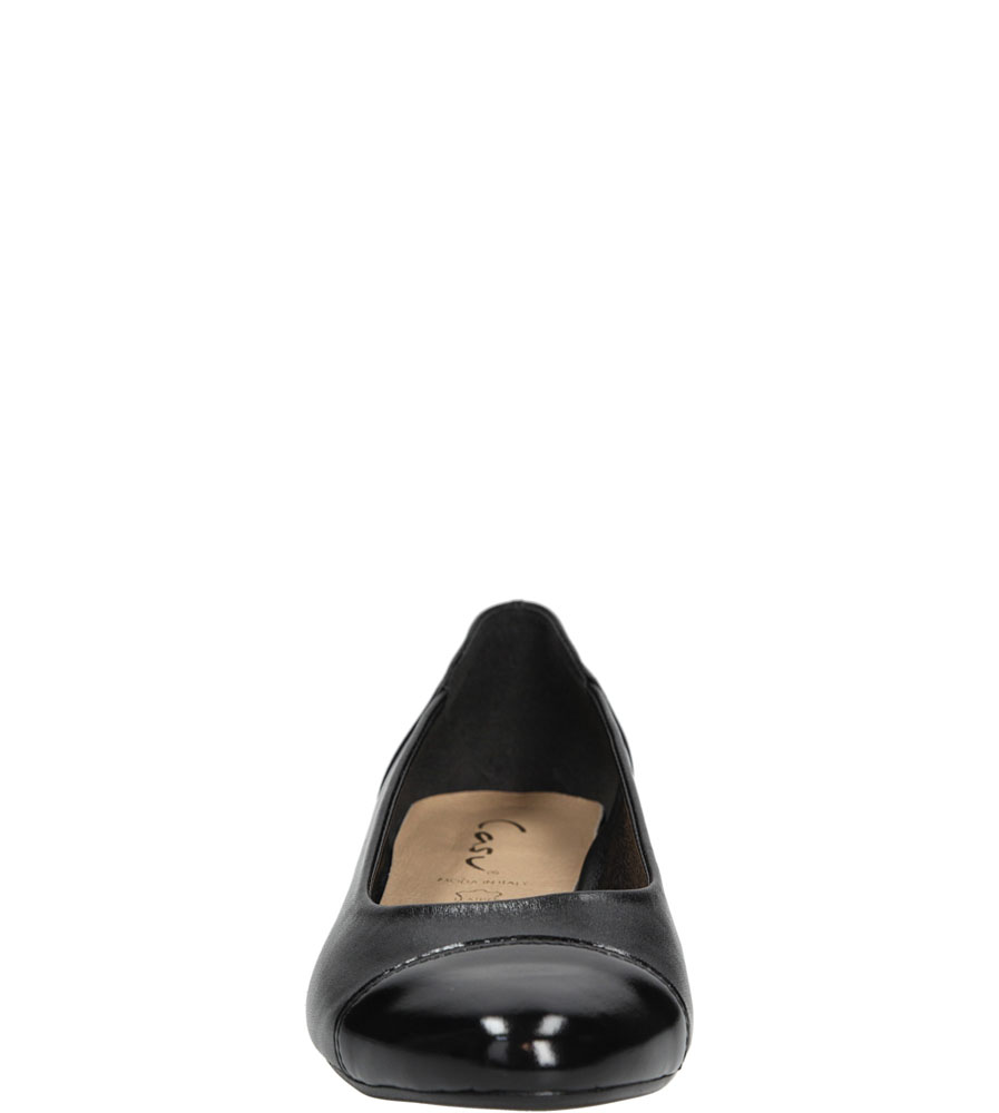 Baleriny skórzane Casu 106 kolor czarny