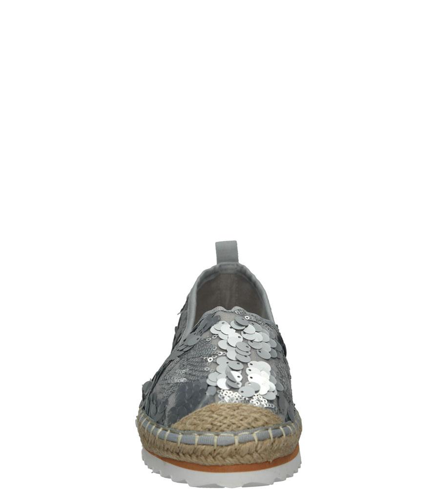 ESPADRYLE CASU L55600 kolor srebrny