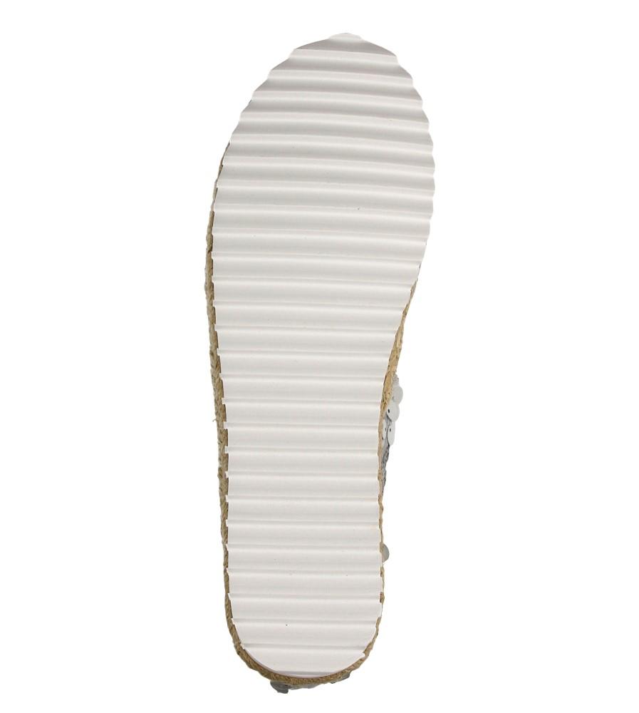 Damskie ESPADRYLE CASU L55600 srebrny;;