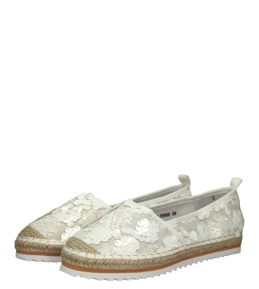 Damskie ESPADRYLE CASU L55600 biały;;