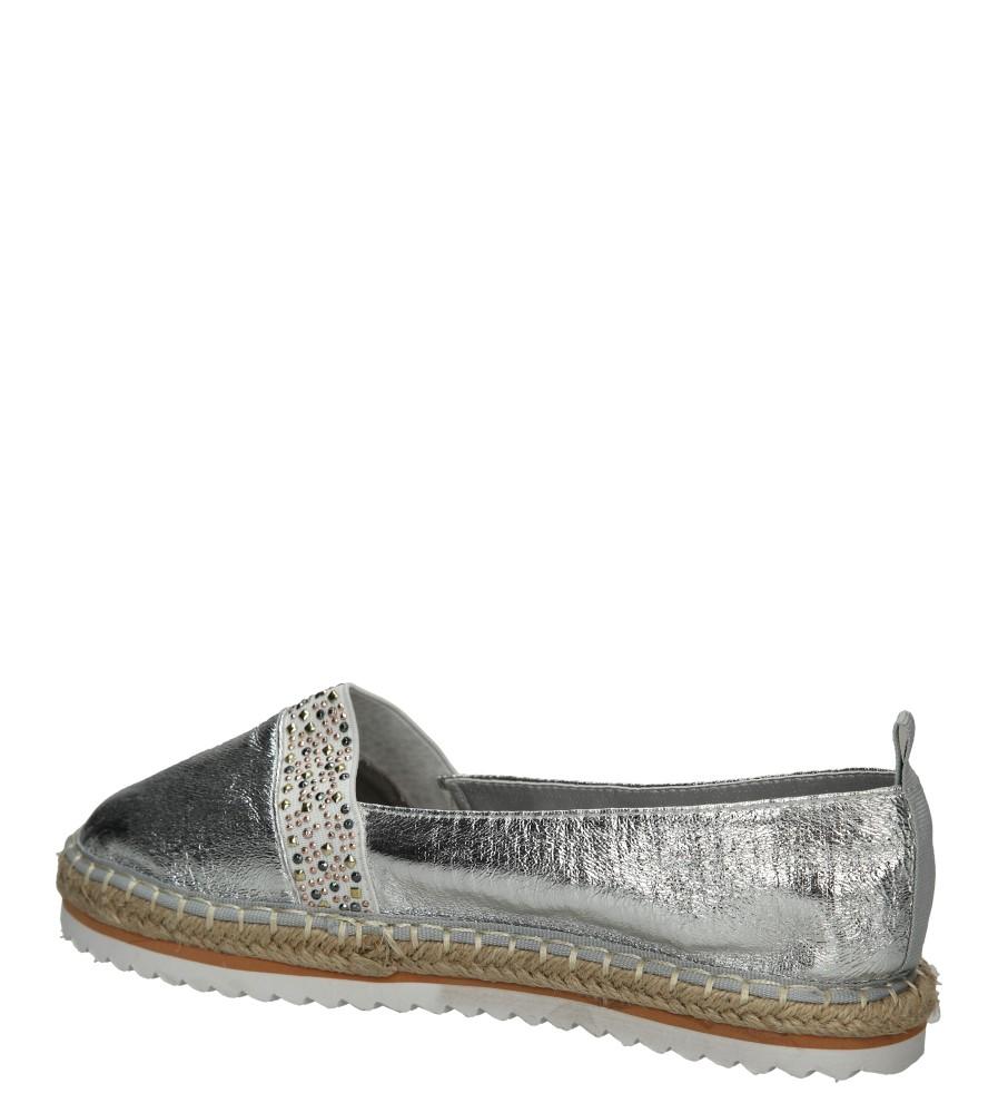 Damskie Espadryle Casu L55601 srebrny;;