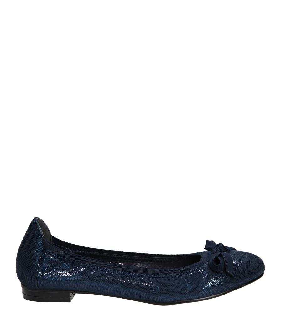 Damskie BALERINY S.BARSKI L83603 niebieski;;