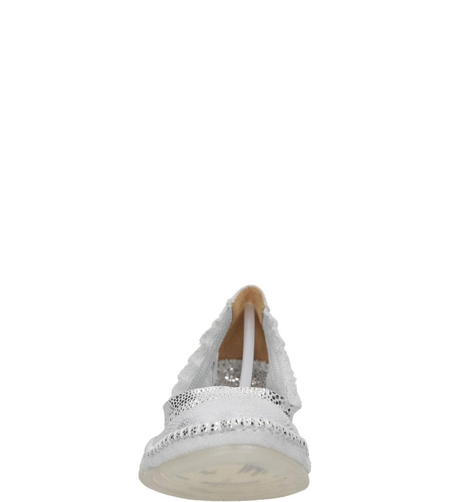 Damskie BALERINY MACIEJKA 02338 biały;srebrny;