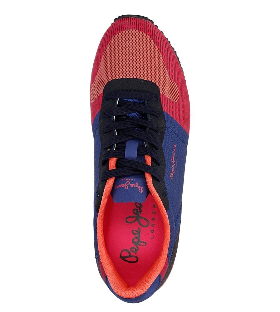 Damskie TRAMPKI PEPE JEANS PLS30331 niebieski;różowy;czerwony