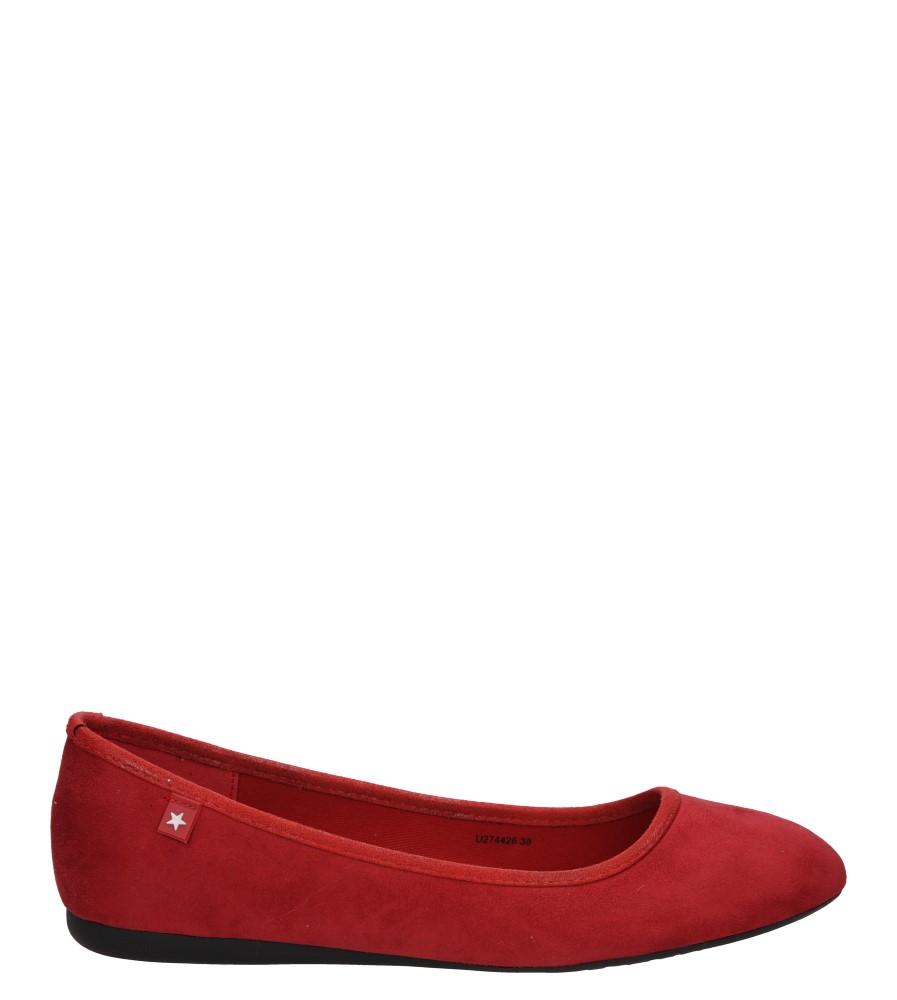 Damskie BALERINY BIG STAR U27442 czerwony;;