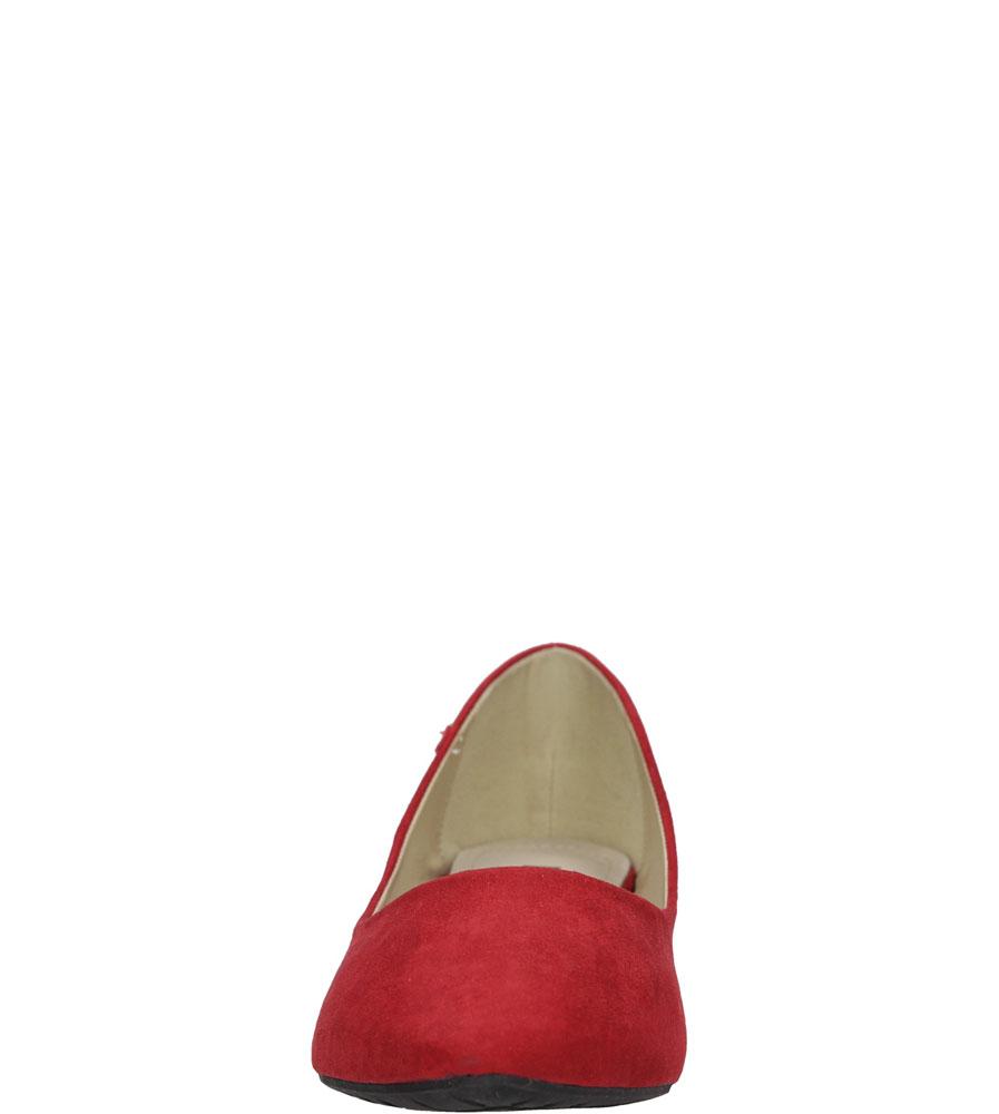 Damskie BALERINY BIG STAR U27465 czerwony;;