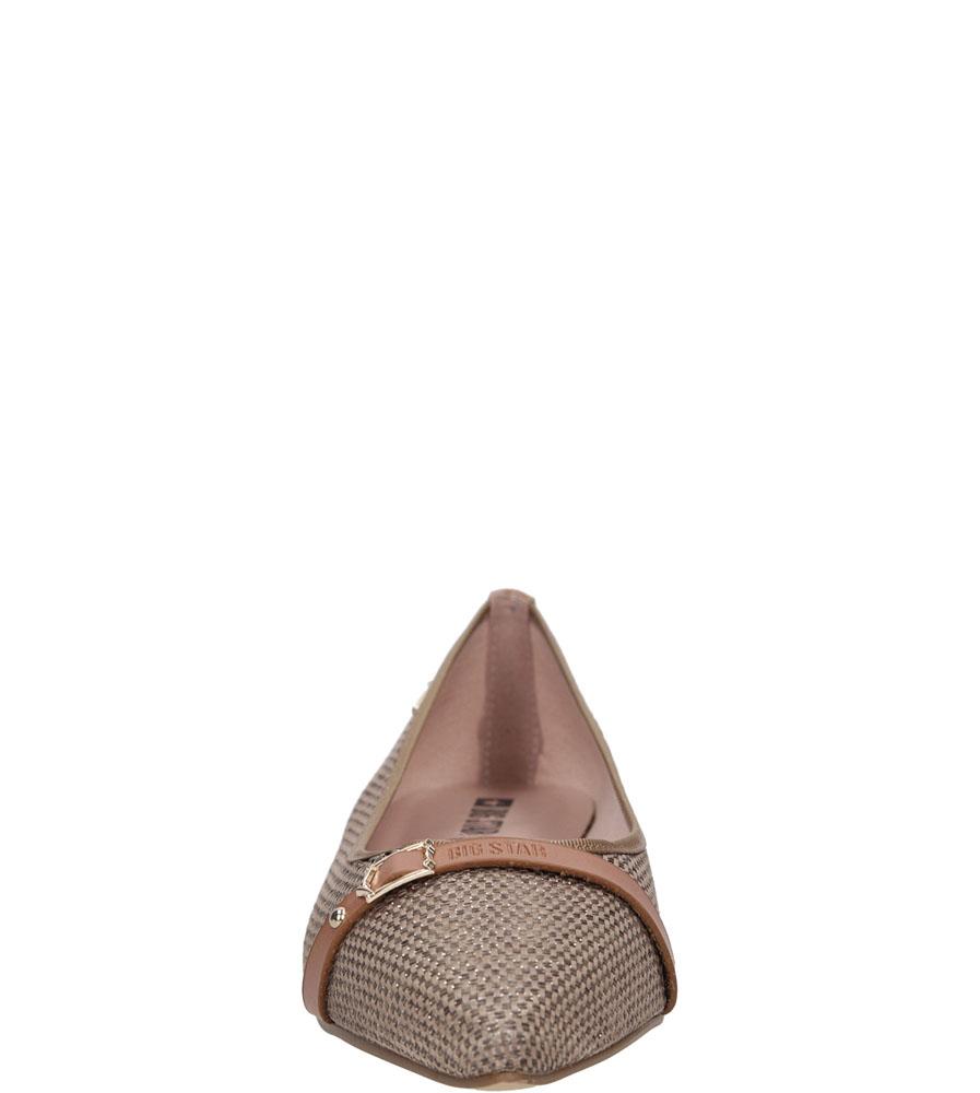 Damskie BALERINY BIG STAR U27438 brązowy;;