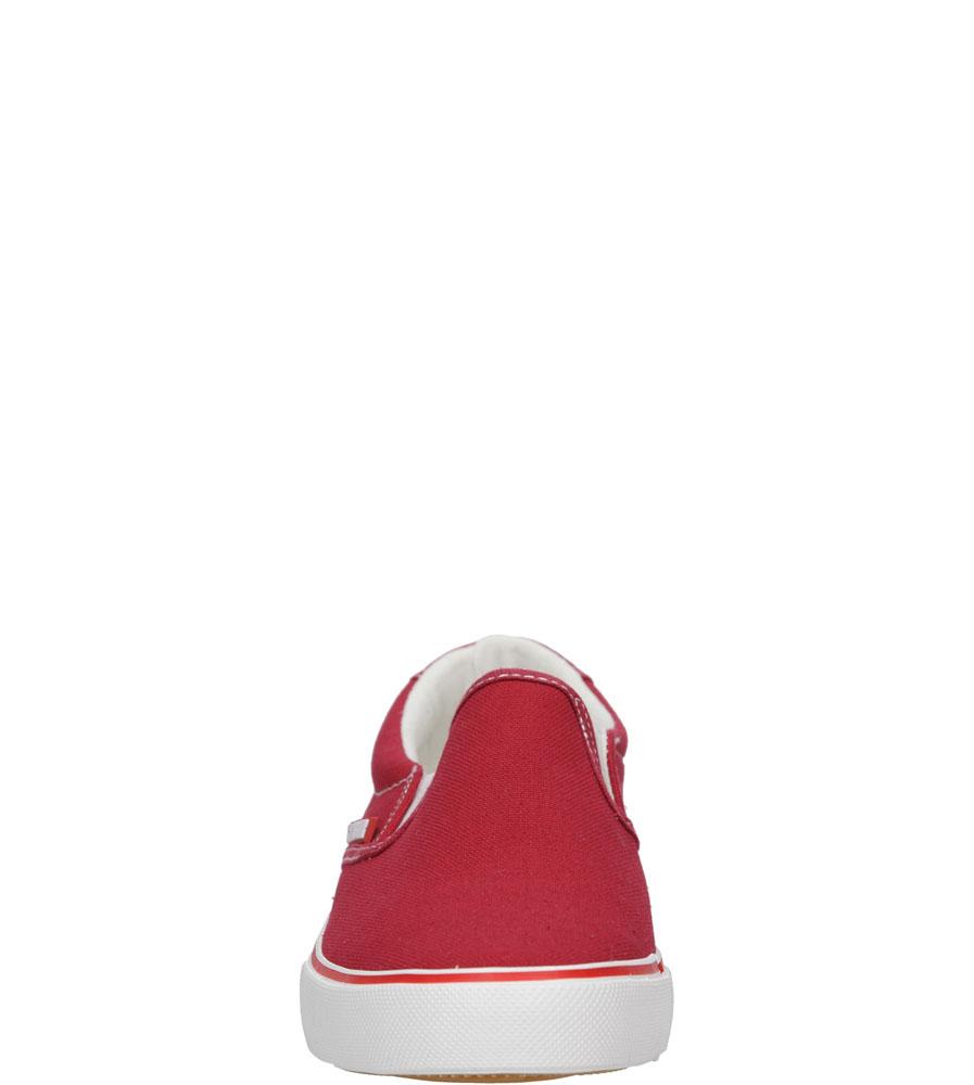 Damskie SLIP ON BIG STAR U27486 czerwony;;