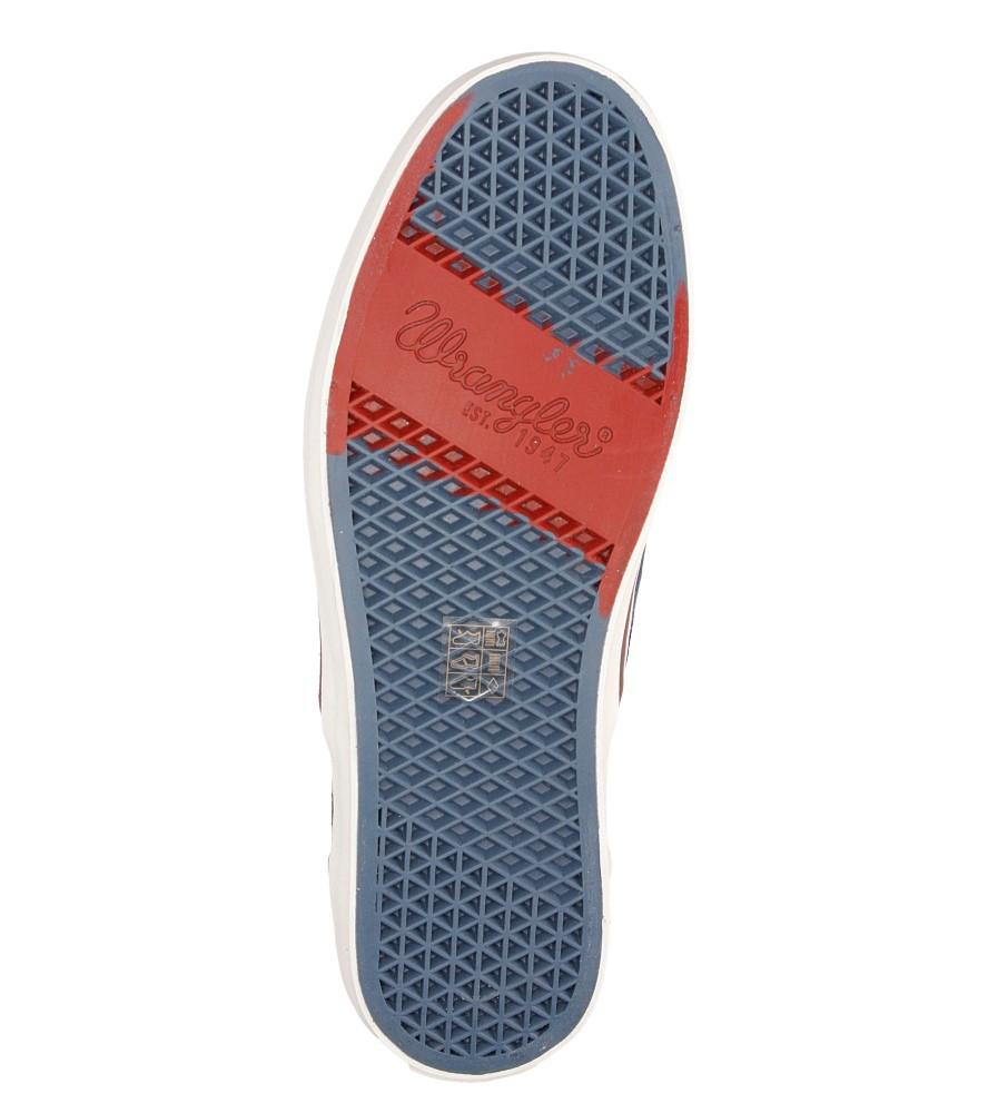 Męskie SLIP ON WRANGLER LEGEND SLIP ON WM161011 niebieski;;
