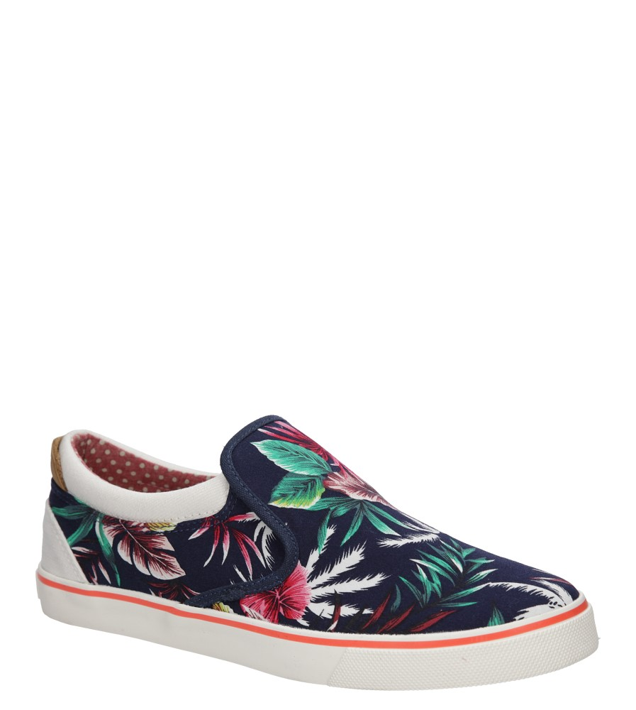 Damskie SLIP ON WRANGLER ICON SLIP ON CANVAS WL161513 niebieski;multikolor;
