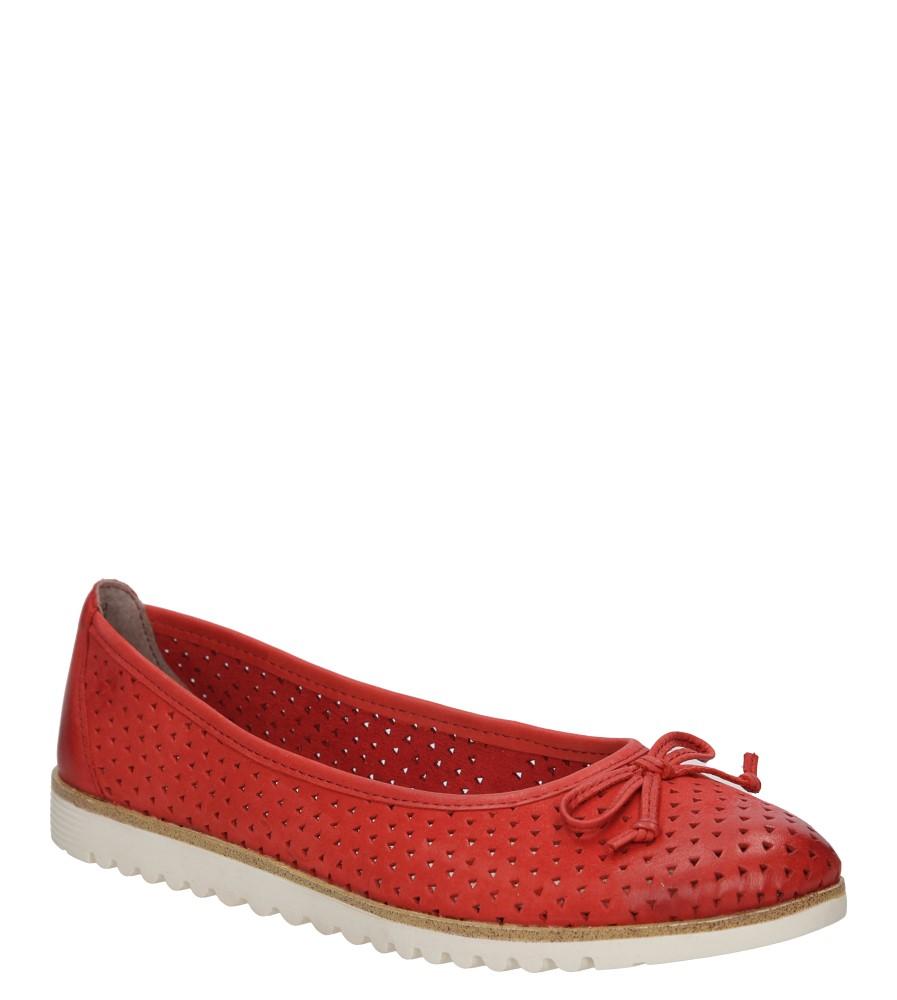 Damskie BALERINY TAMARIS 1-24621-26 czerwony;;