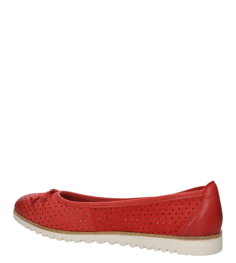 BALERINY TAMARIS 1-24621-26 kolor czerwony