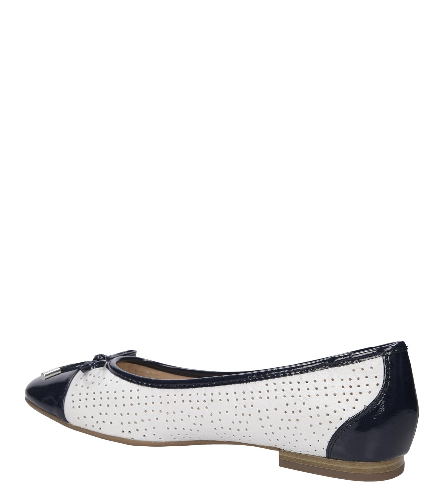 Damskie BALERINY CAPRICE 9-22105-26 biały;niebieski;