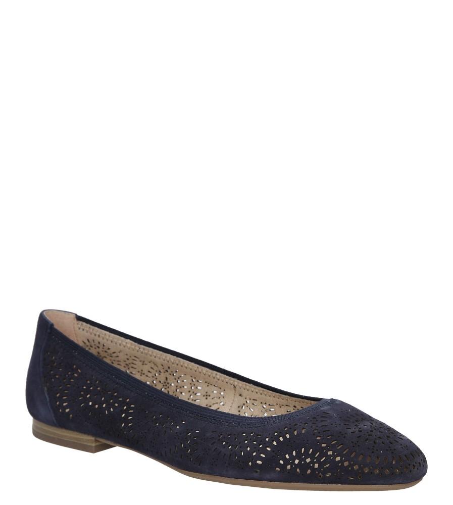 Damskie BALERINY CAPRICE 9-22500-26 niebieski;;