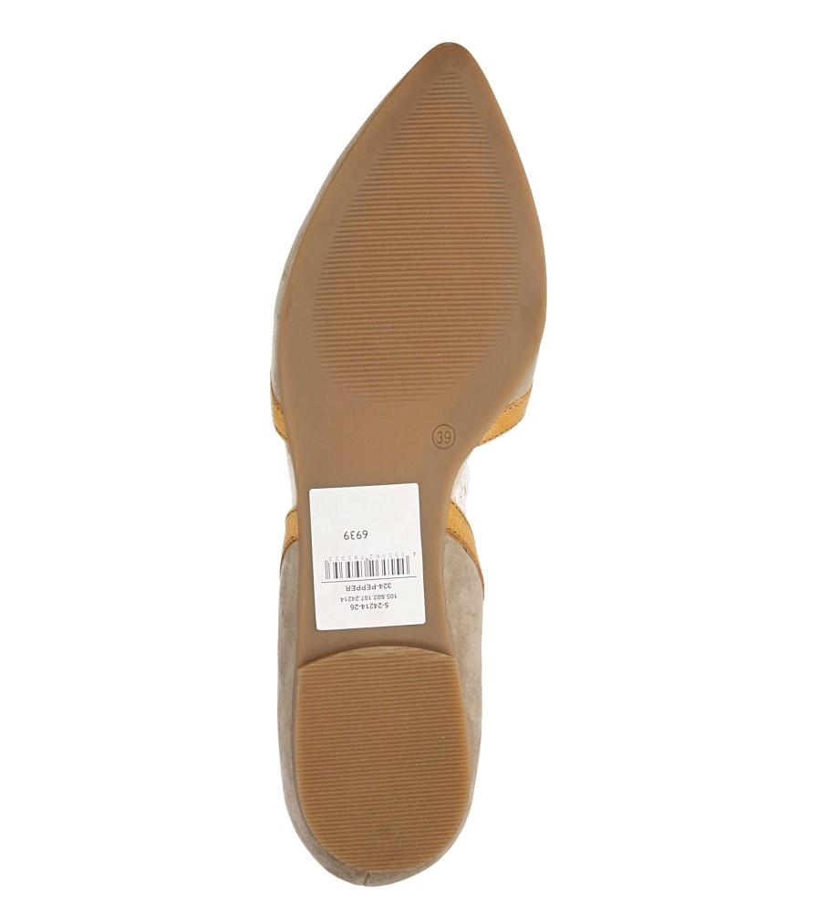 BALERINY S.OLIVER 5-24214-26 wierzch skóra naturalna - zamsz/licowa