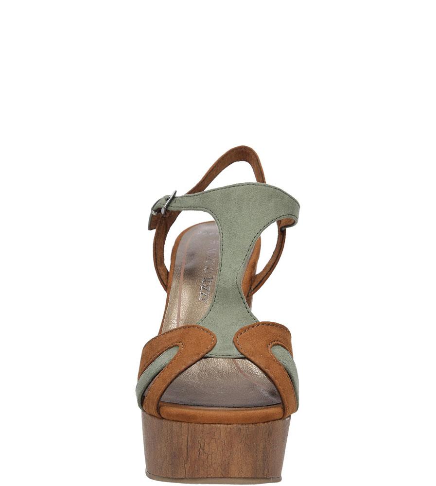Damskie SANDAŁY MARCO TOZZI 2-28365-36 brązowy;zielony;