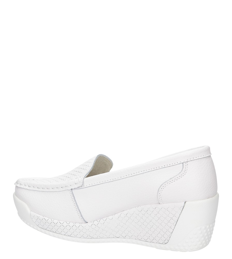 Damskie MOKASYNY LANQIER 38C51 biały;;