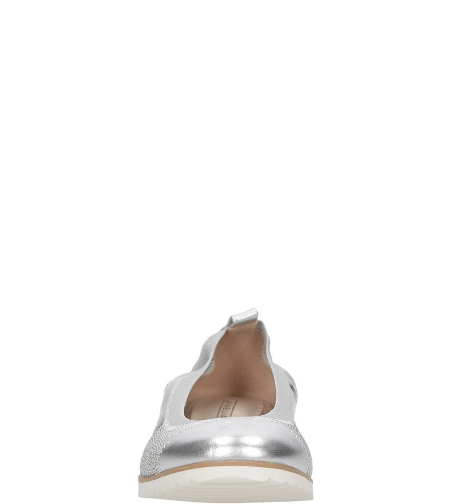 Damskie BALERINY LANQIER 38C81 srebrny;;