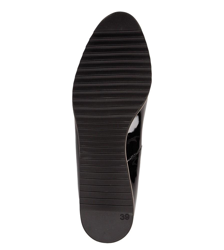 Półbuty czarne skórzane lakierowane Casu 1346 wys_calkowita_buta 11 cm