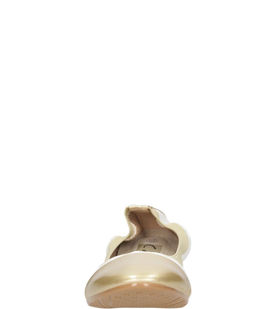 BALERINY CASU LS92 kolor biały, złoty