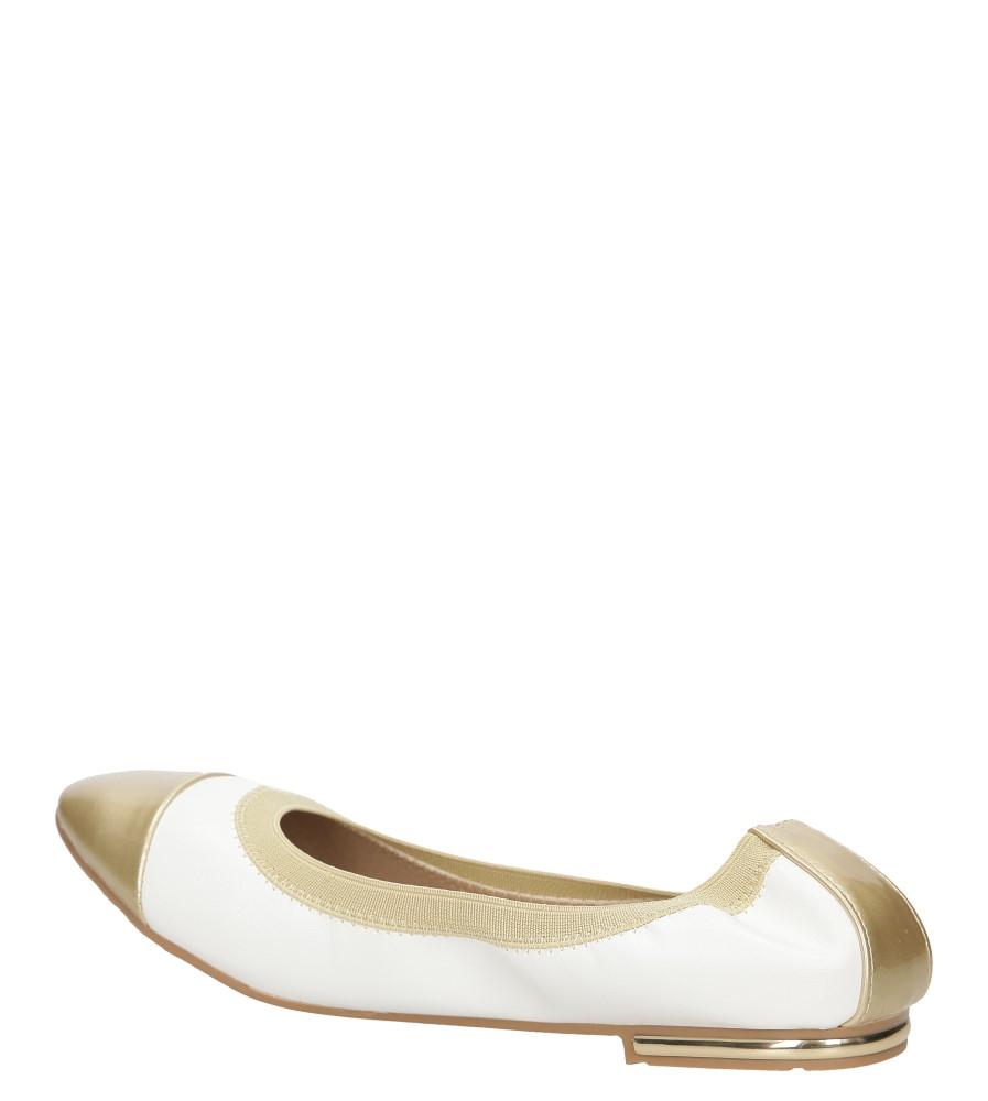 Damskie BALERINY CASU LS92 biały;złoty;